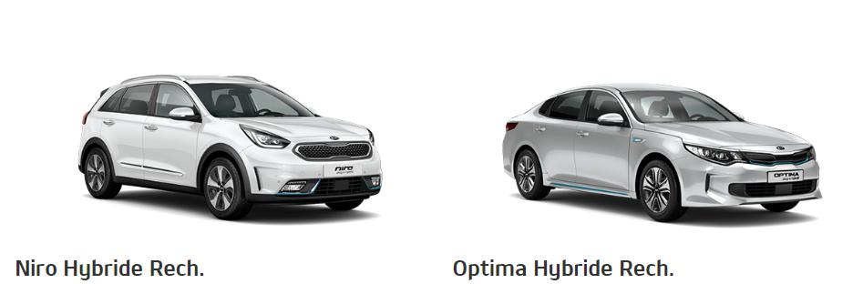 Kia Niro Hybride rechargeable et Kia Optima Hybride rechargeable
