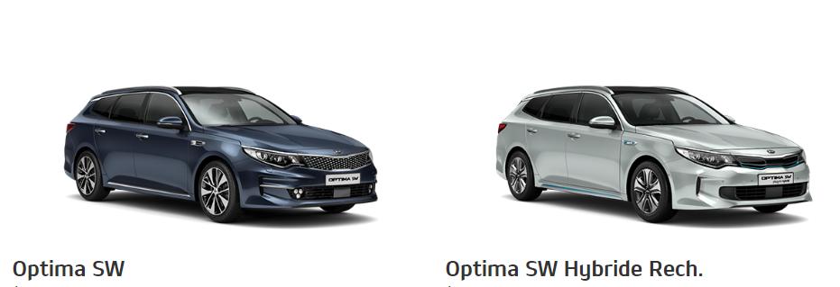 Berlines routières break Kia Optima SW et Kia Optima SW Hybride rechargeable