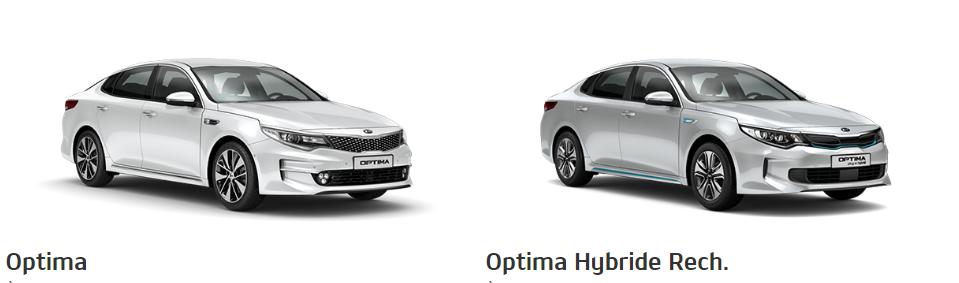 Berlines routière Kia Optima et Kia Optima Hybride rechargeable