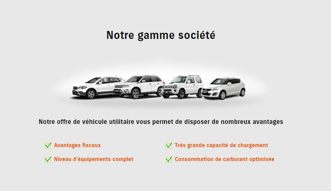 Gamme véhicule utilitaire Suzuki