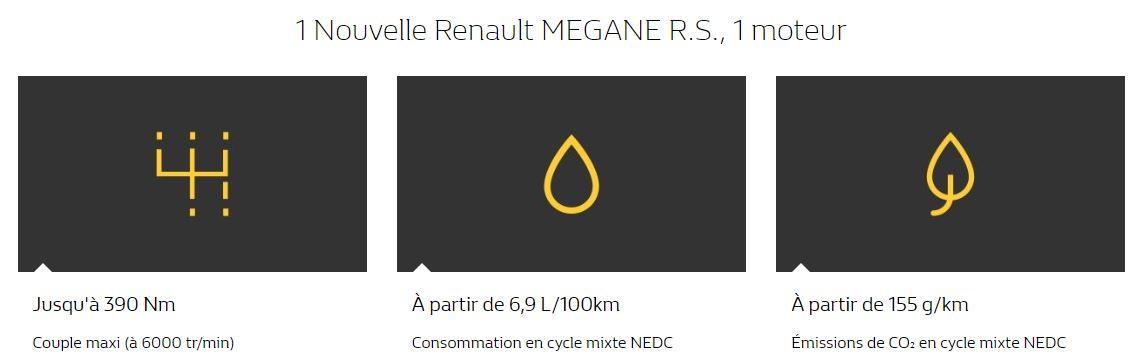 Moteur de la nouvelle Mégane RS à teste en concession Edenauto Renault