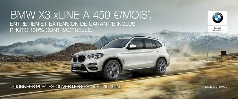 Votre offre BMW X3 xLine à découvrir dans vos concessions BMW Edenauto