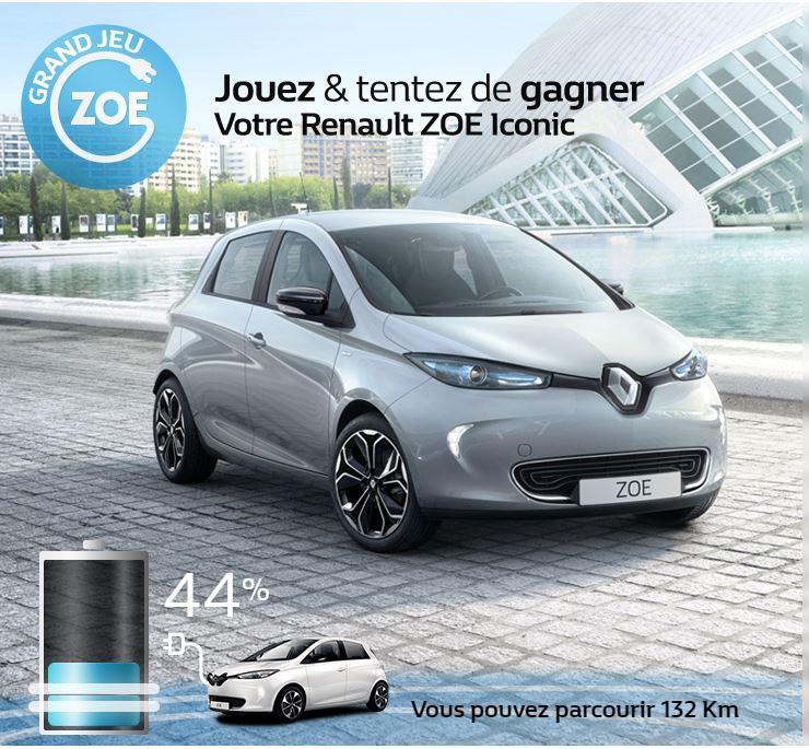Jouez & tentez de gagner votre Renault ZOE Iconic