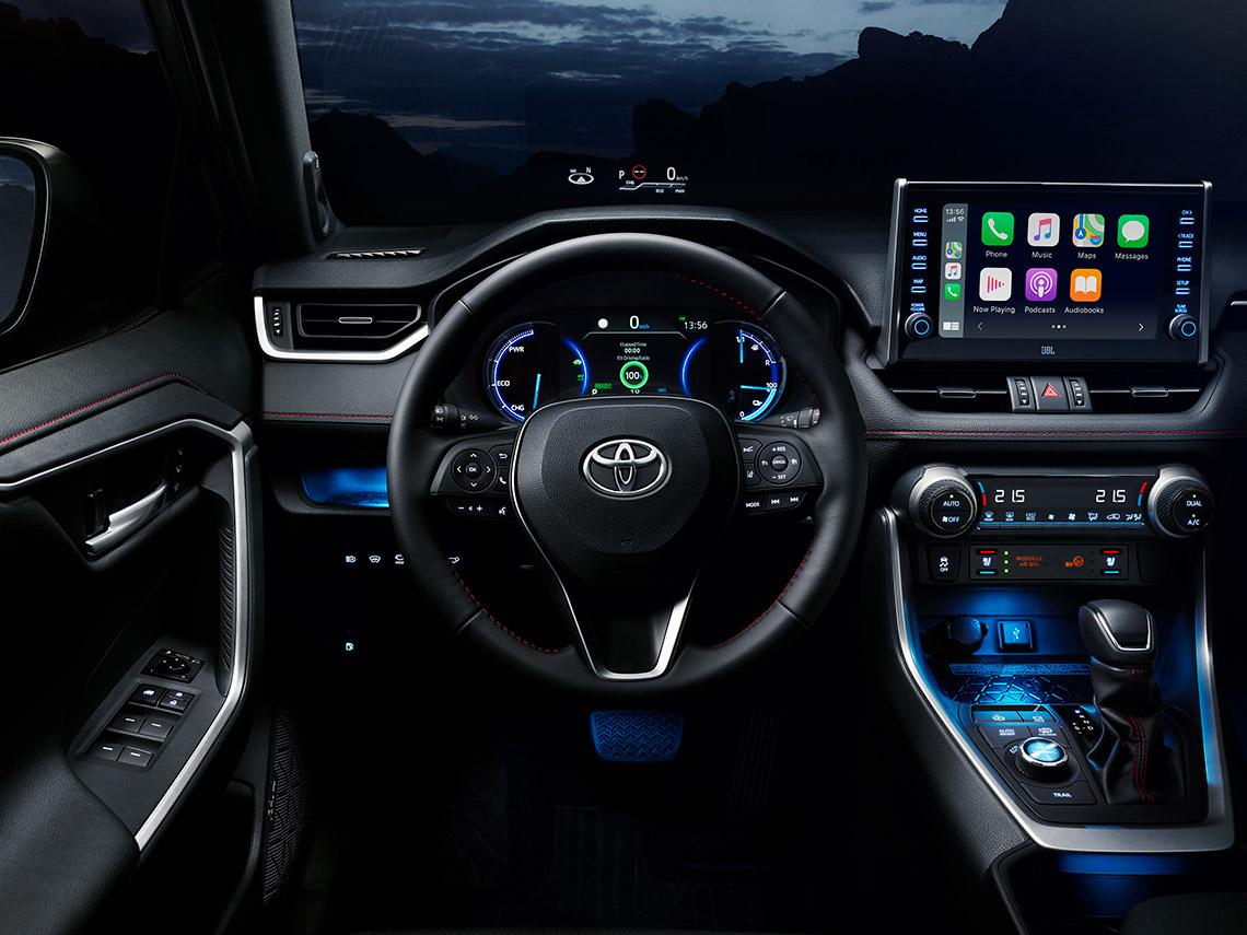 Equipement du nouveau Toyota RAV4 Hybride Rechargeable