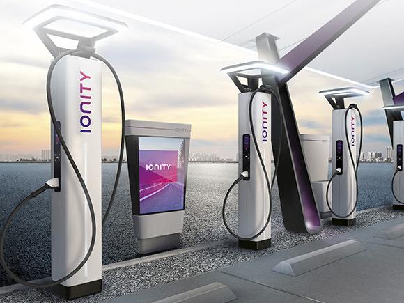 Bornes de recharche Ionity pour recharger votre voiture Kia