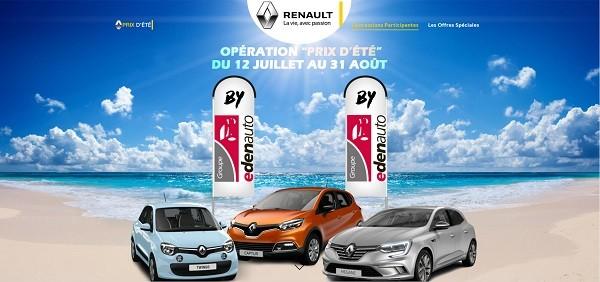 Les Prix d'été continuent jusqu'au 31 août 2016 dans les affaires Renault Dacia du Groupe edenauto