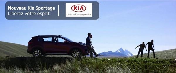 Le nouveau Kia Sportage et James Kelly en quête de liberté !