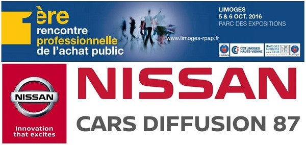 Nissan Limoges partenaire de la 1ère rencontre professionnelle de l'achat public - 5 et 6 octobre 2016