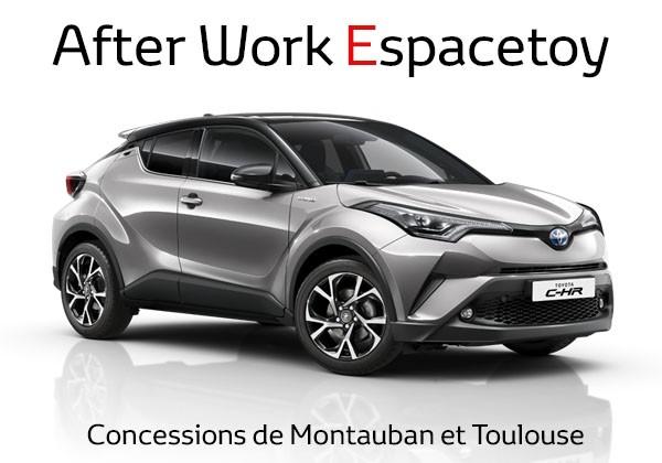 AFTER WORK spécial CH-R chez Espacetoy votre concessionnaire Toyota à Toulouse et Montauban