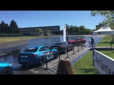 L'Equipe Marketing Communication du Groupe Edenauto en Convention BMW / MINI sur le Circuit de Magny-Cours. Leçon de Drift par M. ARI VATANEN