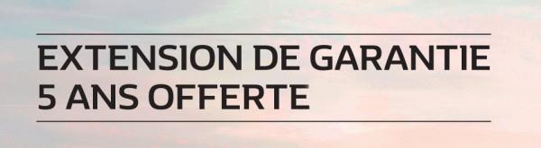 5 ANS DE GARANTIE OFFERTE!