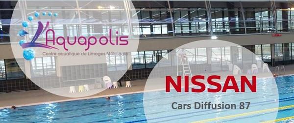 NISSAN LIMOGES renouvelle son partenariat avec l'Aquapolis!