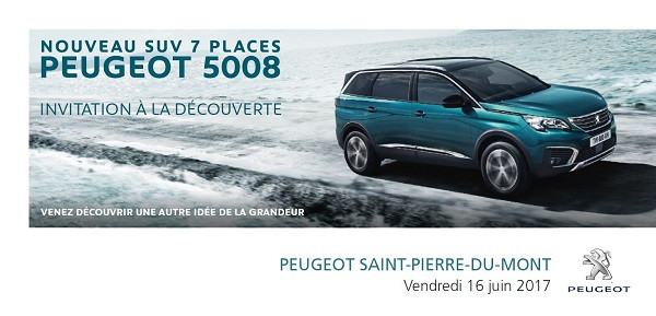 Evénement à Mont-de-Marsan: Soirée lancement Nouveau SUV Peugeot le vendredi 16 juin à 19h !