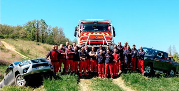 Journée de présentation du TOYOTA HILUX au Service Départemental d'Incendie et de Secours du 31