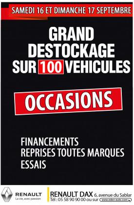 Destockage véhicules d'occasions  à Dax!!