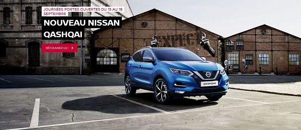 Le Nouveau NISSAN QASHQAI à l'honneur lors des PORTES OUVERTES Nissan ce week-end!