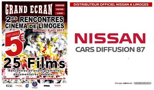 NISSAN partenaire des 2es Rencontres Cinéma de Limoges!
