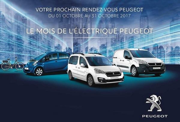 Le mois de l'électrique Peugeot