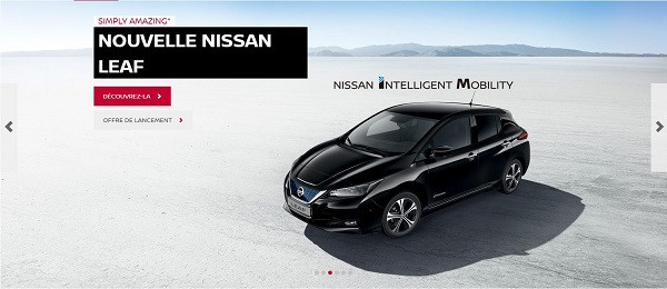 nouvelle nissan leaf soyez parmi les premiers la commander. Black Bedroom Furniture Sets. Home Design Ideas