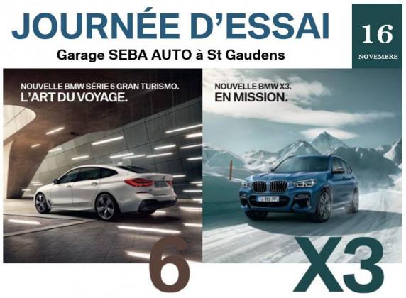 Journée d'Essai BMW X3 & BMW Série 6 Gran Turismo