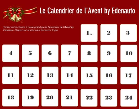 Le calendrier de l'Avent by Edenauto