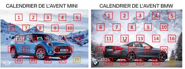 Calendrier de l'Avent MINI & BMW