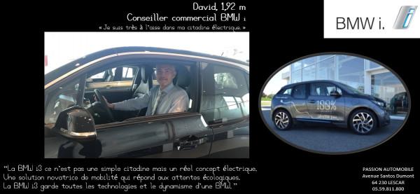 Témoignage de David, dans sa BMW i3