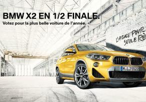 La Nouvelle BMW X2 est en 1/2  finale.