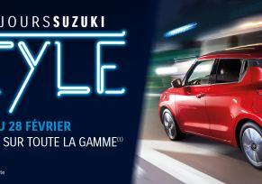 Les jours Suzuki Style jusqu'au 28 février 2018