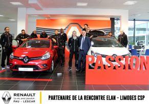 Renault Pau - Lescar : Partenaire Officiel du Match Elan Béarnais - Limoges