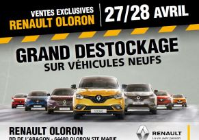 Renault Oloron : Grand Déstockage Véhicules Neufs