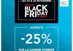 TOYOTA FAIT SON BLACK FRIDAY !