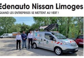 Edenauto Nissan Limoges livre le premier eNV200 équipé d'une nacelle!