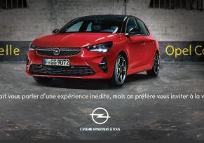 Soirée de lancement de la Nouvelle Opel Corsa dans un lieu d'exception