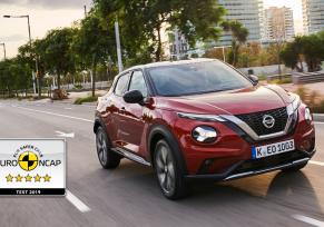 5 étoiles pour le nouveau Nissan Juke à l'Euro NCAP
