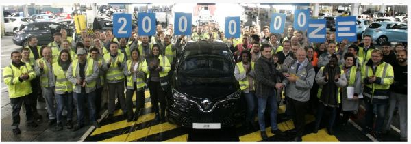 200000 véhicules électriques produits à Flins : Cocorico !!