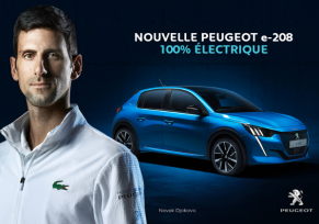 Novak Djokovic et e-208 : Peugeot lance sa campagne internationale