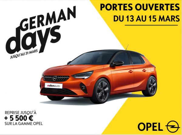 Les Portes Ouvertes Opel du 13 au 15 Mars