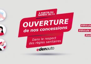 Ouverture de nos concessions edenauto Renault