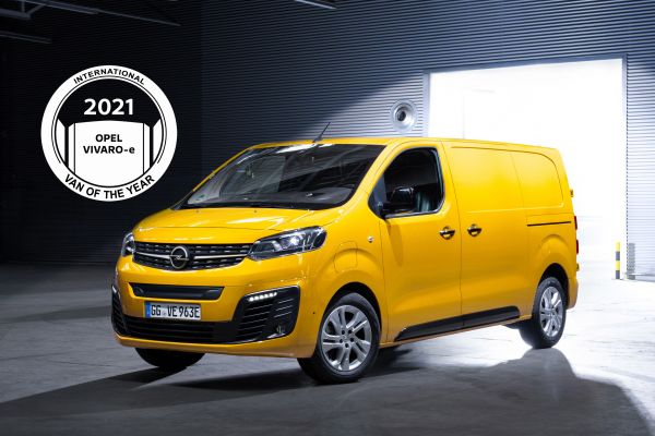 Le nouvel Opel Vivaro-e élu « International Van of the Year 2021 »