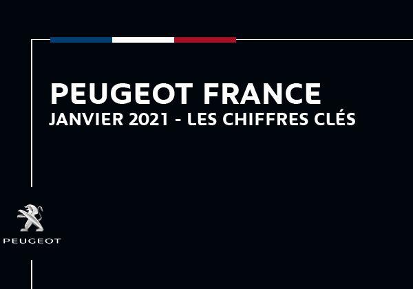 Peugeot France : Les chiffres clés de janvier 2021