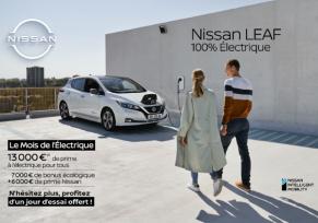 Actu automobile: Le Mois de l'Électrique chez Nissan : un essai d'un jour offert sur la Leaf !