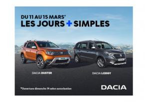 Les Jours plus simples Dacia du 11  au 15 mars