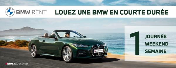 BMW RENT : Nouveau service de location de BMW
