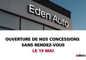 Actualité des concessions : 19-05-2021 ouverture de nos concessions edenauto dacia