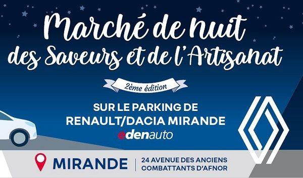 Marché de nuit des Saveurs et de l'Artisanat chez Renault Mirande Vendredi 11 juin 2021!