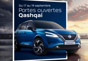 Actualité des concessions : JOURNÉES PORTES OUVERTES QASHQAI edenauto Nissan du 17 au 19 septembre
